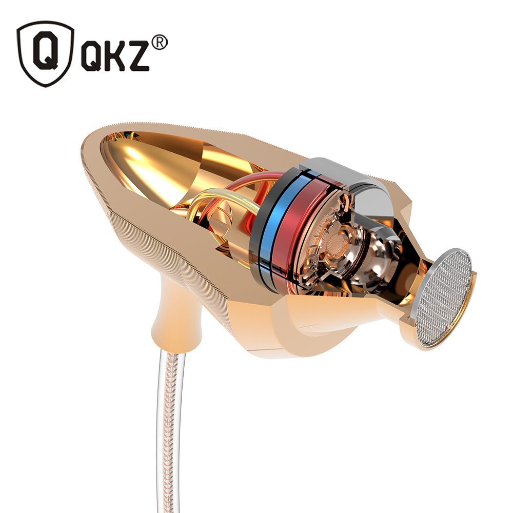 Earphone QKZ DM5 HiFi Ear Phone Metallic Earbuds Stereo BASS Metal in-Ear Earphone Noise Cancelling Headsets DJ In Ear Earphones