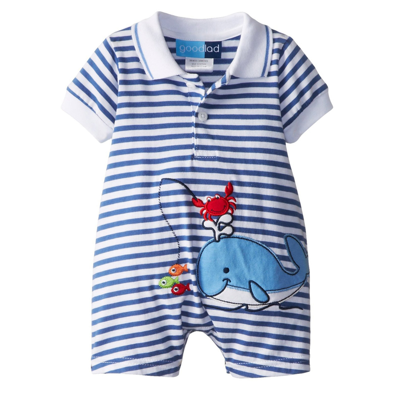 Baby Rompers Summer Baby Boy Clothes 2017 Kids Clothes Short Sleeve Newborn Baby Clothes Roupas Bebe Infant Jumpsuits summer 2017 navy baby boys rompers infant sailor suit jumpsuit roupas meninos body ropa bebe romper newborn baby boy clothes