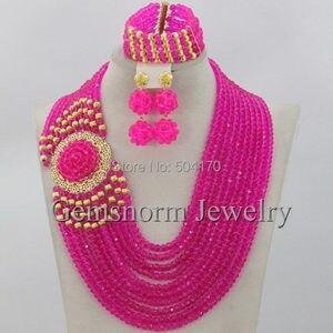 Image 4 - Splendid Nigeria Wedding Hạt Trang Sức Set Choker Necklace Set Phụ Nữ Châu Phi Bridal Jewelry Set Mới Miễn Phí Tàu GS217