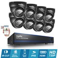 SANNCE 16CH full HD 720P CCTV Camera System with 8pcs 1200tvl dome Security Camera 1080N DVR Video Surveillance kit HDD
