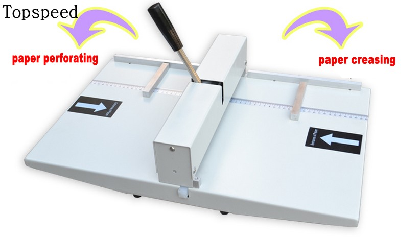 New Manual paper creaser and perforator 2 in 1 , creasing and perforating machine double functions 340mm