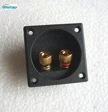56.5mm x 56.5mm Carré Binding Post Type Haut-Parleur Boîte à Bornes Conseil Tasse Fil Câble Connecteur Noir HIFI DIY livraison Gratuite