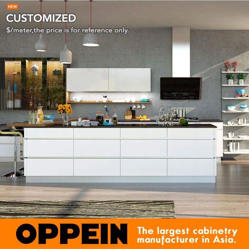 Muebles de cocina gabinete de cocina Venta caliente nuevo diseño moderno de alto brillo laca armario de cocina OP16-L19