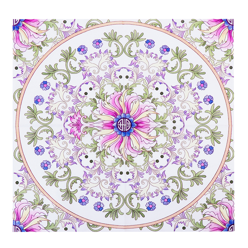 Pink Flesh Totem Design Paper Napkins Cafe & Party Tissue Napkins Decoupage Decoration Paper 33cm*33cm 20pcs/pack/lot new white flower lily paper napkins cafe & party tissue napkins decoupage decoration paper 33cm 33cm 20pcs pack lot