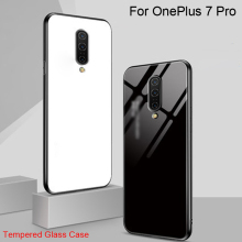 Tempered Glass Case For OnePlus 7 Pro Gradient Color Back Cover For OnePlus 7 Pro Soft Silicone Phone Cases For One Plus 7 Pro