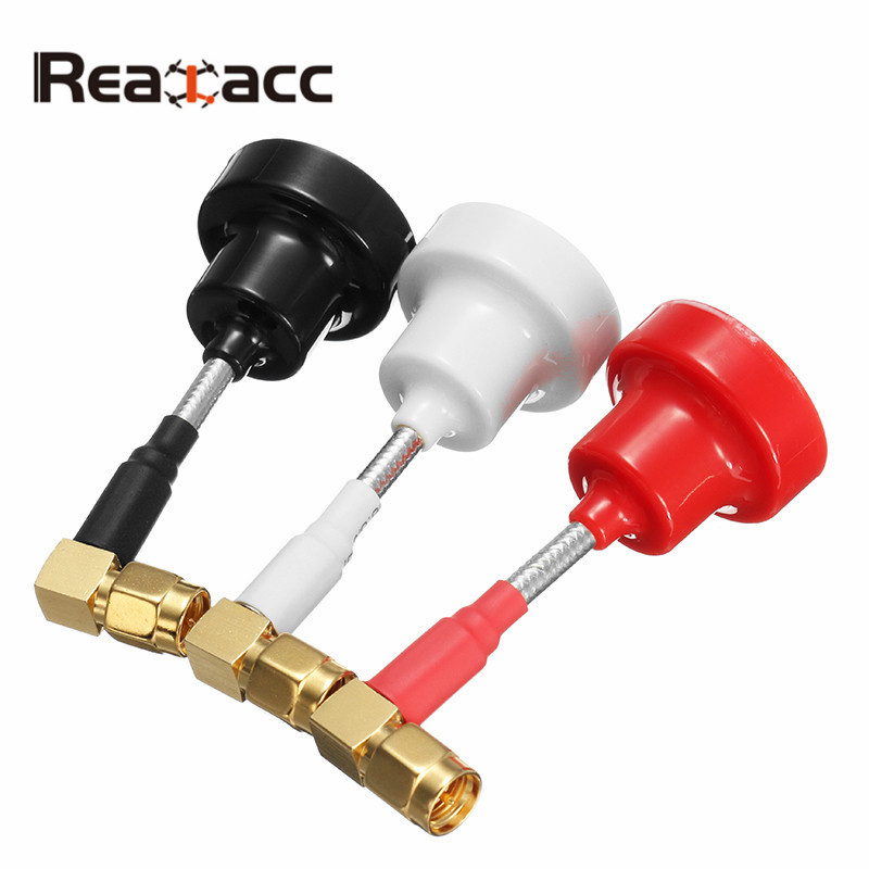 Realacc Pagoda RHCP Right Angle Antenna 6.5cm 65mm 5.8G 5dBi Omni-directional FPV Short Antenna RP-SMA / SMA Male for RC Models
