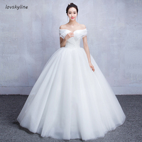 Simple Puffy Wedding Dresses Boat Neck Short Sleeve Princess Wedding Dress New arrival Fashion Custom Plus Sizes
