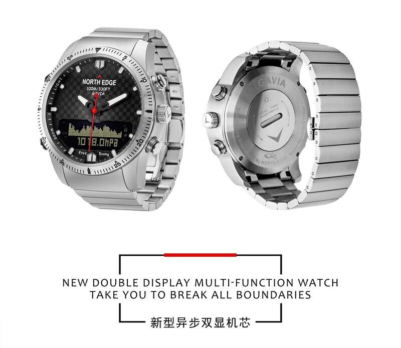 Topdudes.com - Original NORTH EDGE Digital Dive Watches 100M Waterproof