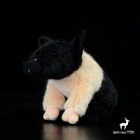 סימולציה חיות פרווה צעצוע לילדים Kawaii בובות חזיר מתנות לחג המולד פנמה שחור 20 ס
