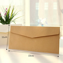 40pcs lot 3 Colors Vintage 120g Blank Kraft Paper DIY Multifunction Envelope 220mm 110mmInvitation envelope Free
