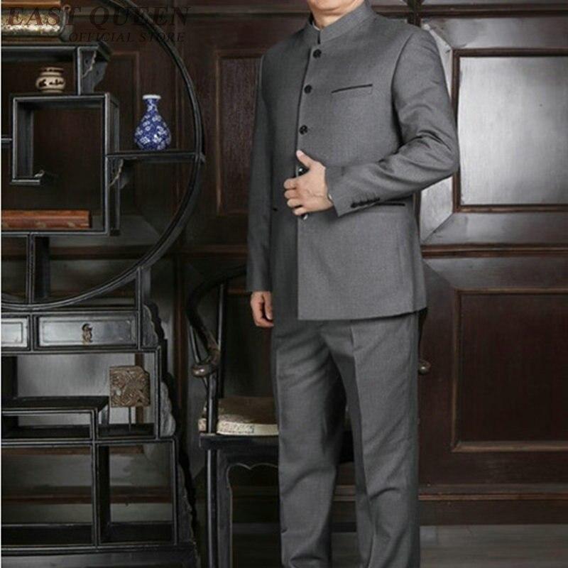 Mandarin collar ชุดสำหรับชาย tang zhongshan ชุด AA4011-ใน สูท จาก เสื้อผ้าผู้ชาย บน   3