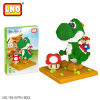 LNO Action Toy Figures Big Size Diy Mario Models Nanoblock Micro Diamond Building Blocks Mini Bricks