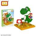 LNO action figures big size diy HC Super Mario Yoshi models nanoblock micro diamond building blocks minute bricks toys for kids