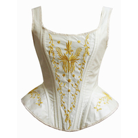 Blue Black Victorian Gothic Retro Overbust Corset Top Vest Sexy Embroidery Shoulder Strap Corsets And Bustiers Korsett For Women