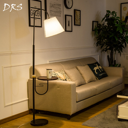 Nordic Vloerlamp Woonkamer Sofa Lihting Bed Licht Thee Eenvoudige Amerikaanse Creatieve Verticale Led Vloerlamp Stand Licht