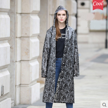Thickening EVA Print Lace Raincoat Women Girls Transparent Rain Coat impermeable ponchos mujer Plastic Rain Jacket