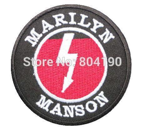 Marilyn Manson Logo Music Rock Band Logo Embroidered New Iron On And