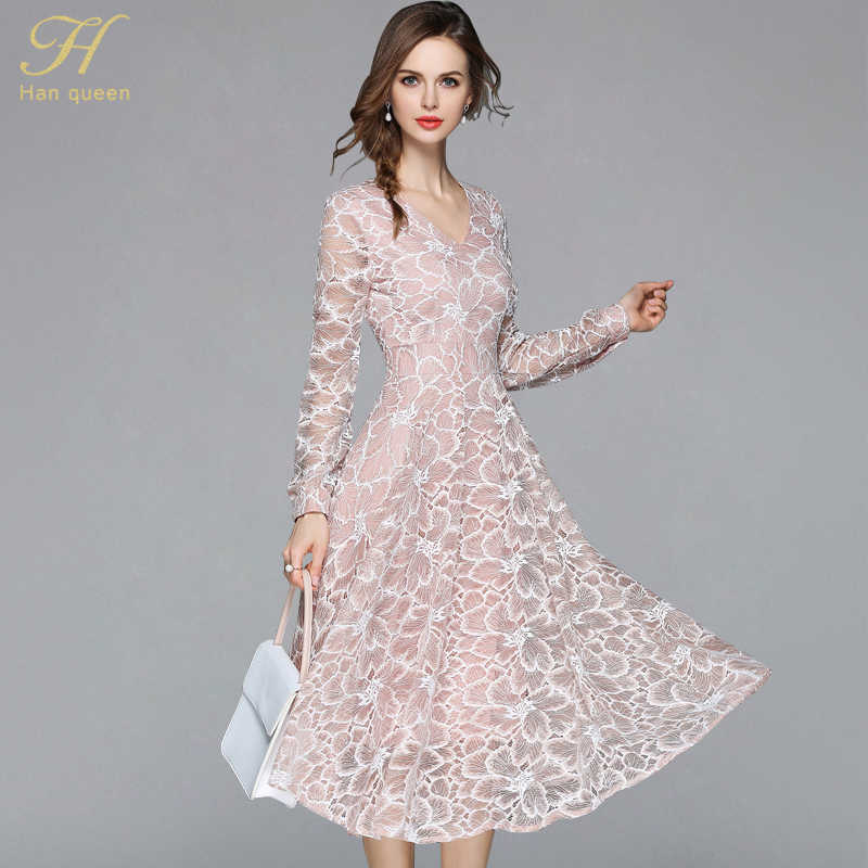 299bdf779e4f4 Detail Feedback Questions about H Han Queen 2018 Summer Lace Dress ...