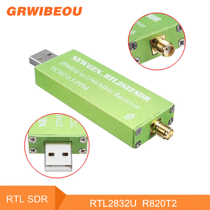 RTL-SDR 0.5 PPM TCXO RTL2832U R820T2 RTL SDR Receiver USB AM FM Software Defined Radio Receiver Scanner Android TV Tuner VHF UHF