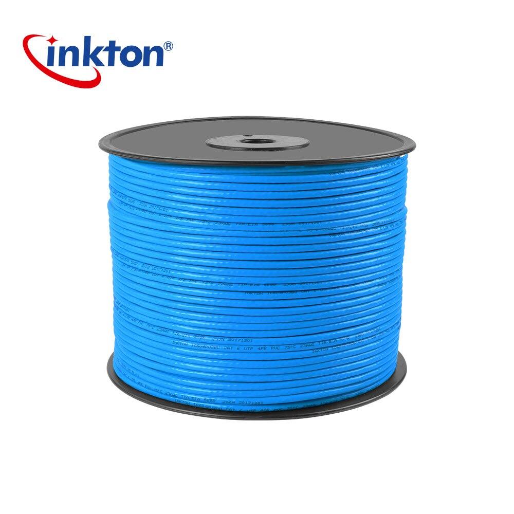 Câble Ethernet Inkton Cat6 câble Lan UTP pour l'ingénierie du réseau domestique câble 24AWG 50 m 100 m 305 m paire torsadée non blindée en cuivre