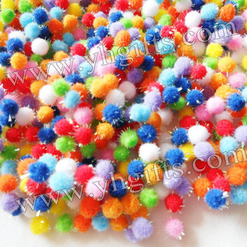 20000PCS/LOT,0.8cm glitter pompom,Multicolor pompom,Craft material,DIY accessories,Doll accessories,Free shipping wholesale