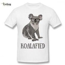 Popular Animal Koala T-shirt For Unisex Funny Streetwear For Man Pure Cotton Camiseta man s 3d print man mazinger z hot sale t shirt funny top design pure cotton for male camiseta
