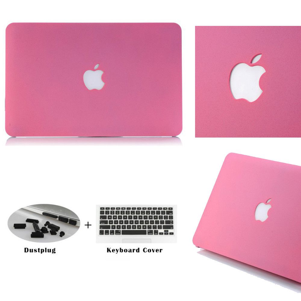 "Laptop Hard Shell Rubberized Cover Case for Macbook Air//Pro//Retina 11/"" 13/"" 15/"""