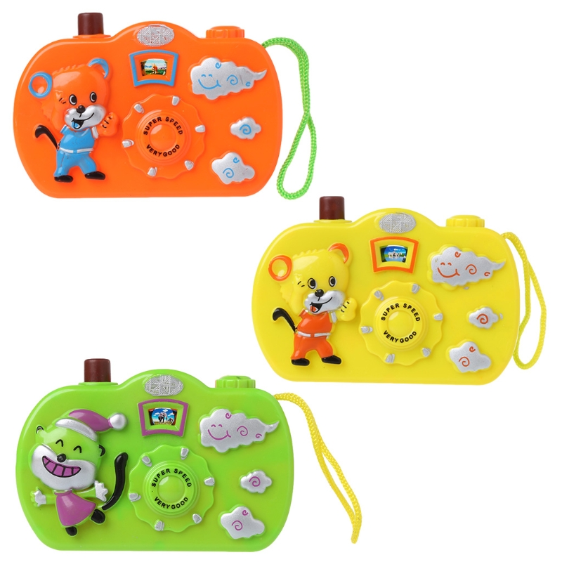 OOTDTY Toys Animal Pattern Light Projection Camera Toy Educational Toys Children Gift