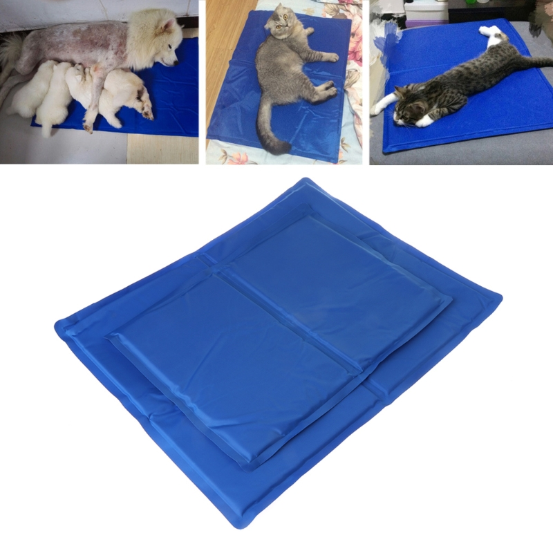NEW Pet Cooling Pad Summer Gel Mat Bed Cooler Canine Dog Cat Non Toxic Ester Cushion