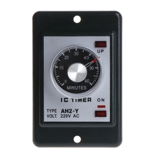 0-60 seconds/minutes Power On Delay Timer Time relay w socket base AC 220V AH2-Y
