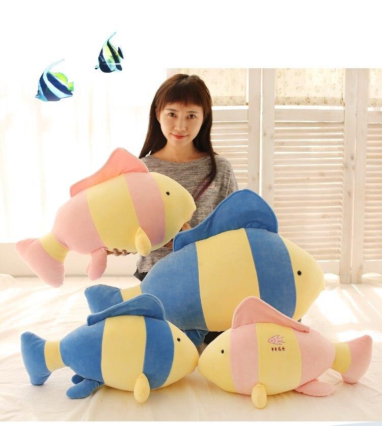60cm Tropical fish doll clown fish pillow plush toy birthday gift