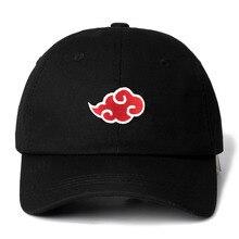 Дропшиппинг японский логотип Akatsuki Аниме Наруто папа шляпа семья Uchiha логотип вышивка бейсболки Черные Шляпы