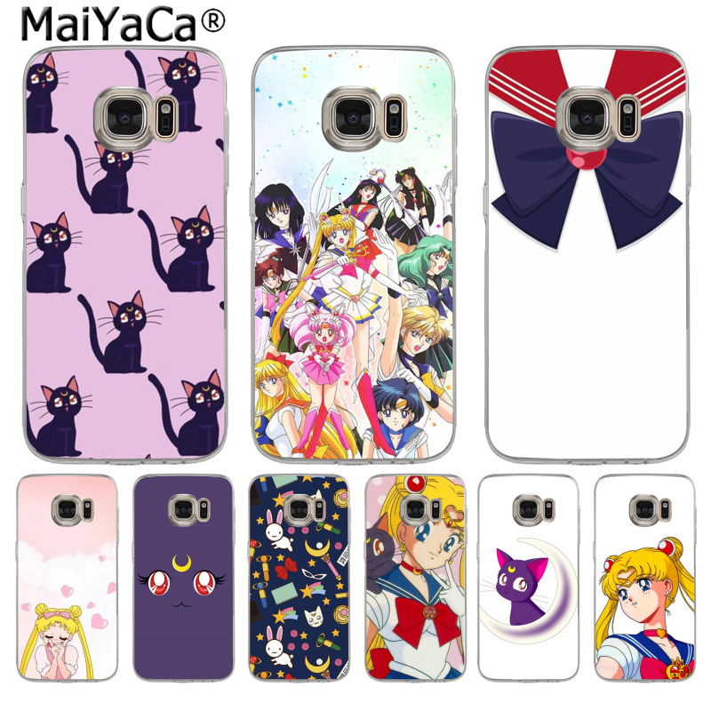 Dashing Maiyaca Sailor Moon Luna Cat Luxury Fashion Phone Case For Samsung S3 S4 S5 S6 S6edge S6plus S7 S7edge S8 S8plus Great Varieties Cellphones & Telecommunications