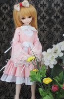 doll accessories bjd clothes 1/4 1/6 pink bow western dress cute girl clothing