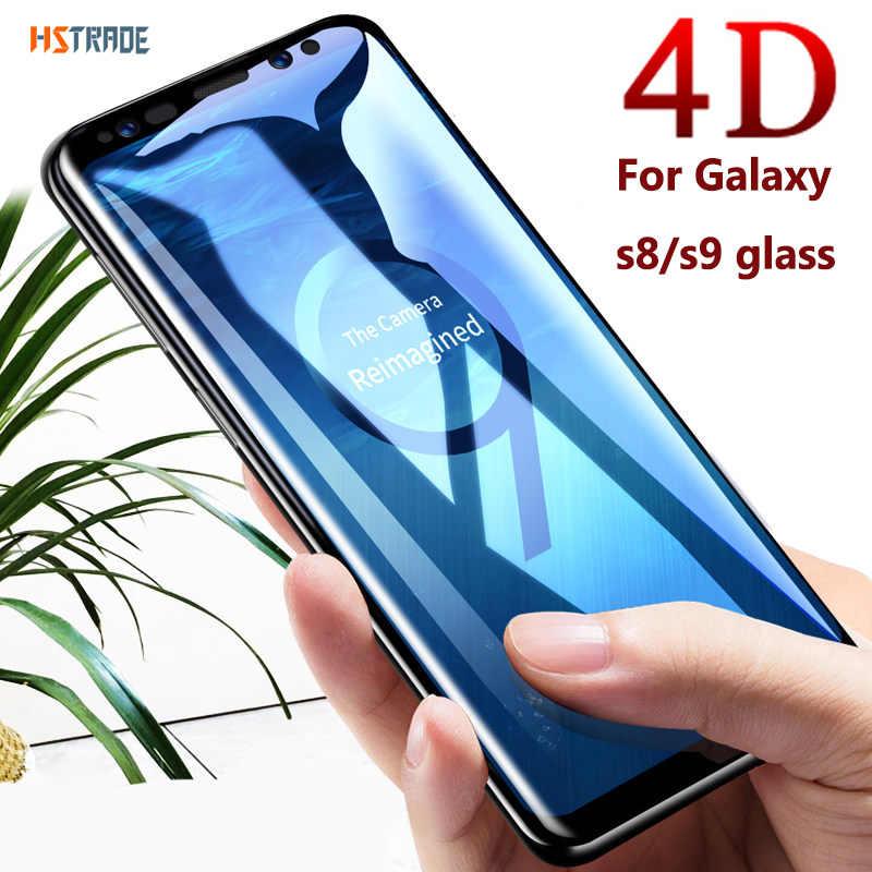 4D منحني غطاء كامل خفف زجاج عليه طبقة غشاء رقيقة لسامسونج نوت 8 9 S8 s9 plus الزجاج ل غالاكسي نوت 10 برو s7 s10 5g واقي للشاشة