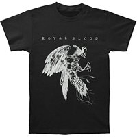 Royal Blood Men S Bird Slim Fit T Shirt Black High Quality Custom Printed Tops Hipster