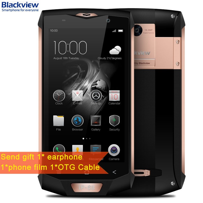 4180mAh Blackview BV8000 Pro 6GB+64GB 5.0inch Android 7.0 MTK6757 Octa Core up to 2.3Ghz 0.1s Fingerprint Identification NFC OTG