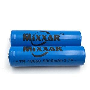 Image 4 - 2ピースは強い光懐中電灯充電式リチウムバッテリー3.7ボルト18650 5000 mahリチウムバッテリー