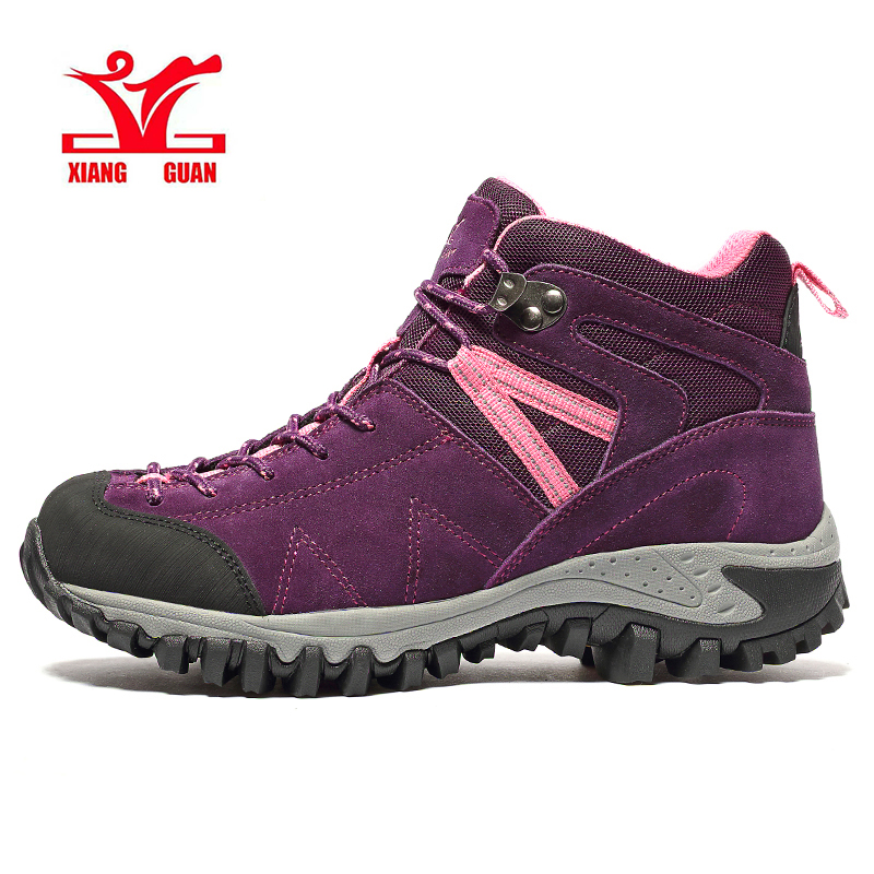 XIANG GUAN Orignal Top Quality Autumn Winter Women's Outdoor High Top Hiking Boots Sneakers Woman Trekking Hunting Sports Shoes new color smok alien kit alien 220w box mod with 3ml tfv8 baby tank electronic cigarette vape vaporizer vs eleaf ijoy e cigs kit