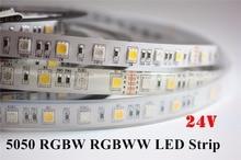 DC24V RGBW led strip light 5050 SMD 12mm PCB 5M 60leds/m led flexible tape rope stripe light RGBWW RGB warm white Newest