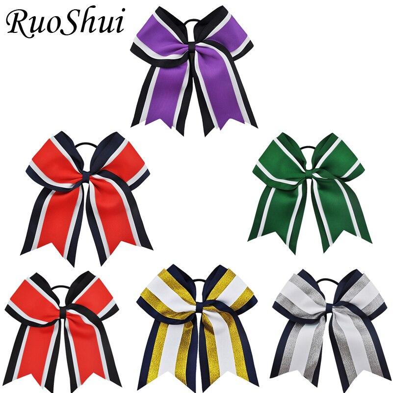 8 Inch Large Hair Bows Girls Grosgrain Ribbon Knot Clip Hair Accessories BP