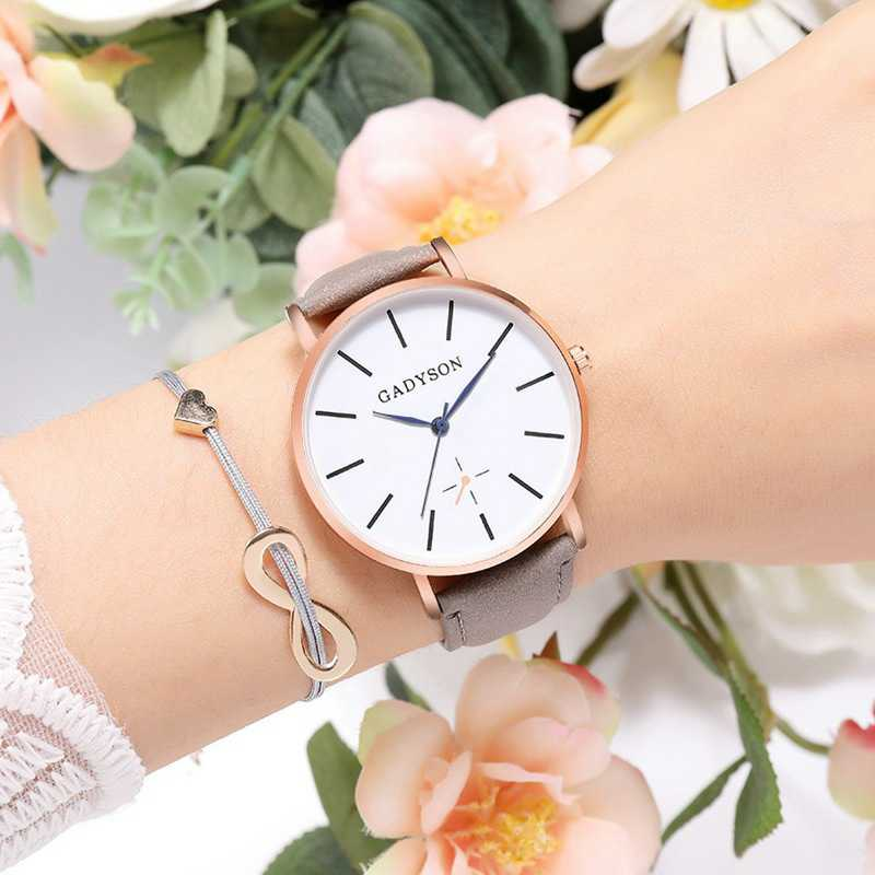 Wome Watch Bracelets Reloje Mujer 2019 Fashion Flower Leather Analog Quartz Vogue Wrist Watch Watches Clock Relogio Femini in Women 39 s Watches from Watches