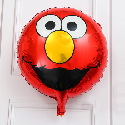KUWANLE 50pcs/lot Sesame Street Elmo Balloon Foil Balloons Birthday Party Supplies Child ...