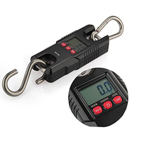 300KG 100g Electronic Digital Hook Hanging Crane Scale Industrial Weighing Scales Mini Heavy Duty