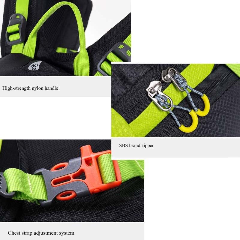ANMEILU 20L deportes bolsa de Nylon resistente al agua Camping escalada bolsa Mochila de viaje al aire libre senderismo ciclismo Mochila cubierta de lluvia Mochila - 6