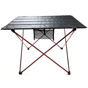 Image 2 - طاولة قابلة للطي طاولة تخييم في الهواء الطلق خفيفة الوزن المحمولة للتخييم ، الشاطئ ، الفناء الخلفي ، شواء.