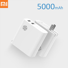 Original Xiaomi 2 in1 5000mAh Power Bank With Dual USB Fast Wall Charger 5V 3A 5V 2.4A PowerBank For iPhone Samsung Phone