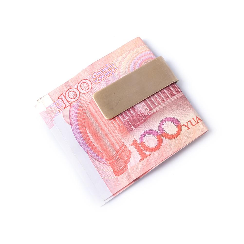 1 StÜcke Gold Silber Mode Einfachen Dollar Bargeld Klemmhalter Edelstahl Metall Geld Clip StraßEnpreis