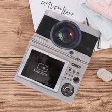 Camera Design Travel Portable Practical Leather Card Case Business Holder Credit Card Bag Passport Cover ID Passport Card Wallet стоимость