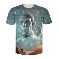 Summer Style Tops Live Long And Prosper T Shirt Star Trek Spock Galaxy Tee Sexy T